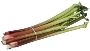 préparer la rhubarbe