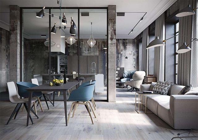Déco Loft : Look industriel, mobilier métal et stickers muraux ?