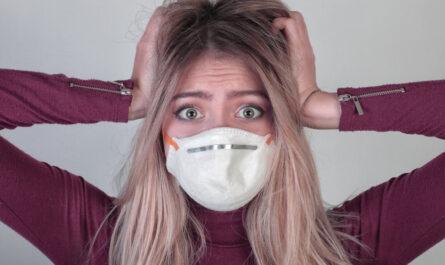 photo d'un femme portant un masque anti covid